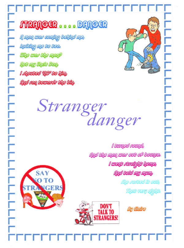 stranger danger globster | Publish with Glogster!